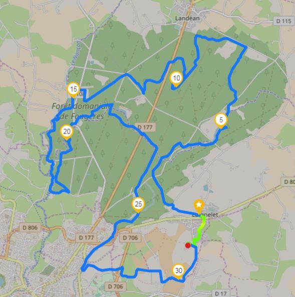 33 km